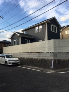 K様邸 外構工事 フェンス取付、ブロック補修、コンクリート打設